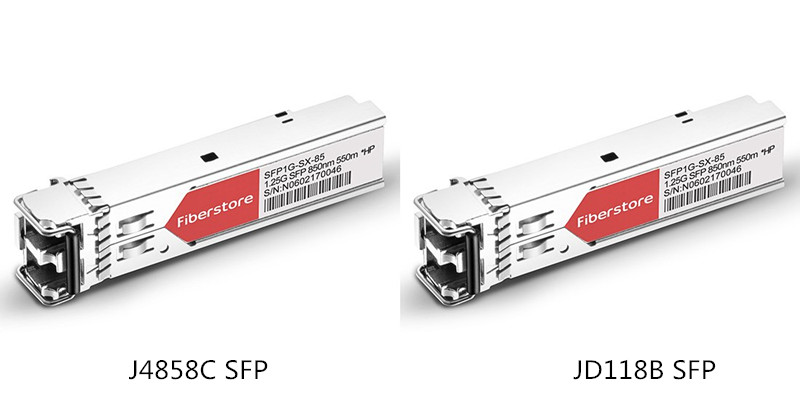J4858C SFP Transceiver VS JD118B SFP Transceiver