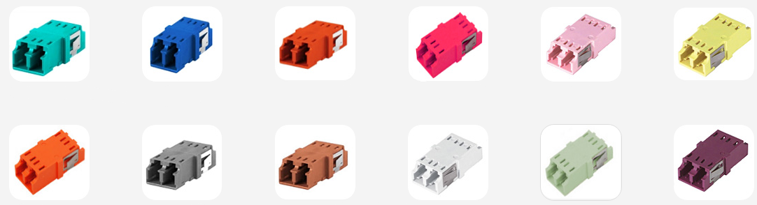 keyed LC fiber optic adapters