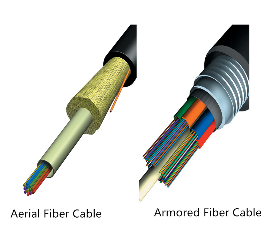armored and aerial fiber optic cable