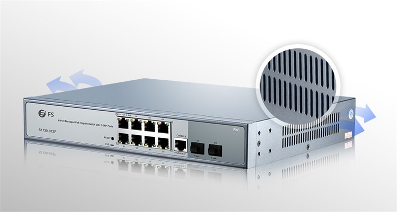 FS S1130-8T2F 8 port PoE switch