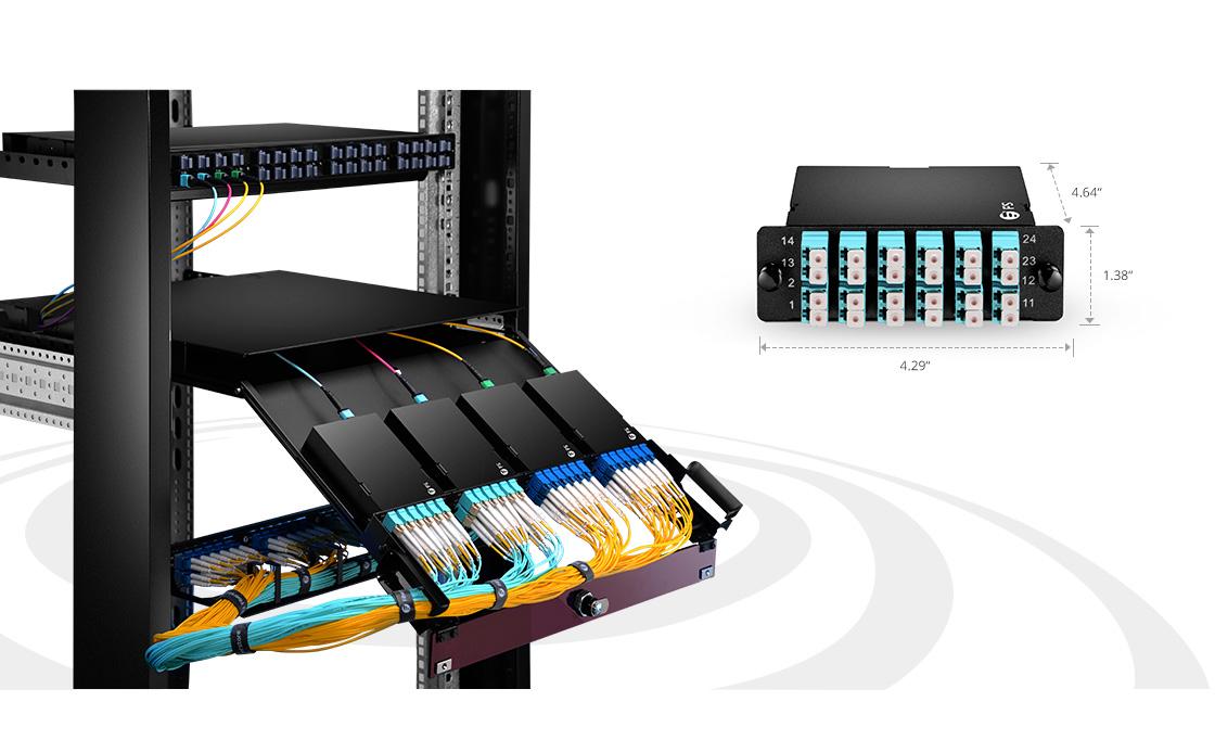 MTP Cassette With FHD Fiber Enclosure