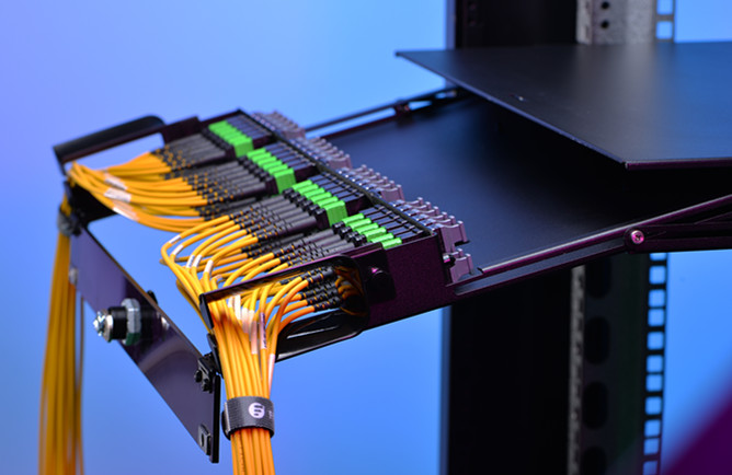 Modular patching solutions: Fiber Adapter Panel With FHD Fiber Enclosure