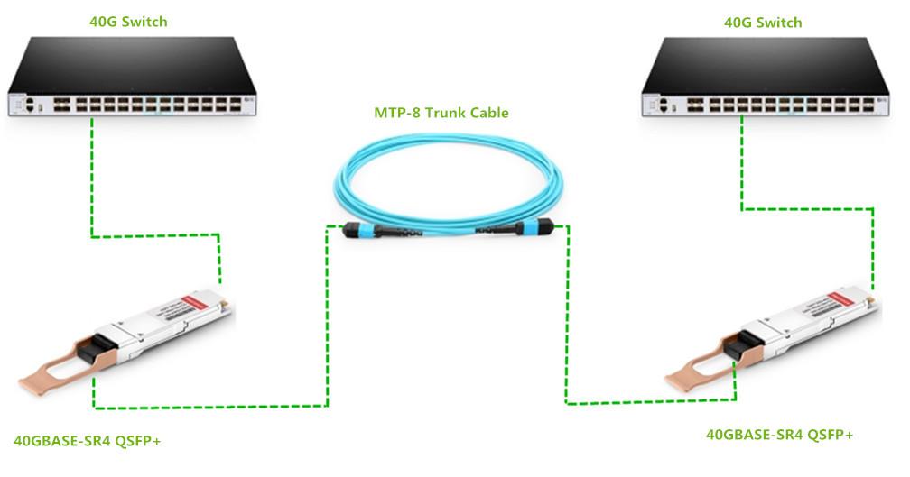 MTP-8 solution in 40G data center