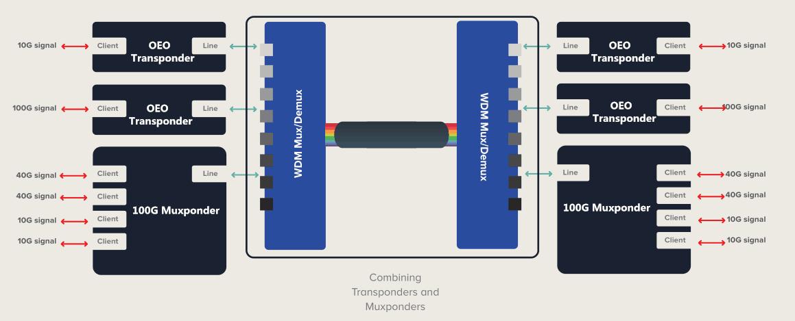 conbining muxponder and transponder